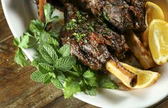 Lamb shanks braised in wine & aromatics osso buco style makes for an easy & delicious special occasion meal. Garnish with lemon, orange & mint gremolata. Lamb Recipes, Dinner Recipes, Dinner Ideas, Braised Lamb Shanks, Lamb Dishes, No Cook Meals, A Food, Food Processor Recipes, Pork