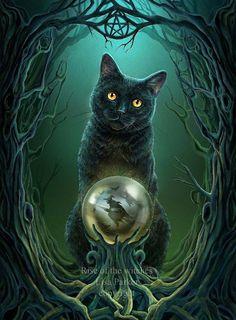 Holidays Halloween Art Cross Stitch Pattern__Halloween Cat, Rise Of The Witch___ Halloween Images, Halloween Cat, Halloween Outfits, Holidays Halloween, Foto Fantasy, Fantasy Art, Magic Cat, Black Cat Art, Black Cats