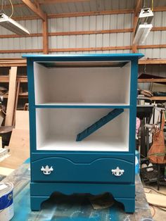 Guinea Pig house upcycled from old dresser