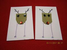 Joulukortit aaltopahvista. ( joulu kortti  joulukortti joulukortteja porokortti porokortit porokortteja porot )