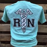 Southern Chics RN Registered Nurse Nurses Comfort Colors Girlie Bright T Shirt