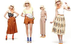Transitional pieces  #leather #shorts #pattern #yellow