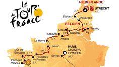 Die Strecke der 102. Tour de France