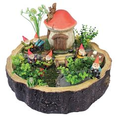 Teeny tiny garden gnomes and accessories in the Design Toscano Tiny Forest Friends Gnome Garden Statue will delight everyone who sees them. Indoor Fairy Gardens, Mini Fairy Garden, Fairy Garden Houses, Miniature Fairy Gardens, Fairy Gardening, Gardening Quotes, Fairy Garden Plants, Gardening Hacks, Gnome Statues