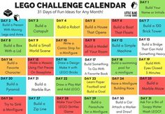 LEGO Challenge Calendar Ideas for Kids More