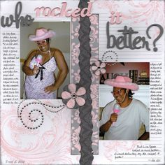 who rocked it better? - Scrapbook.com ... love the colors!