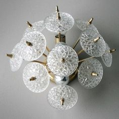 Located using retrostart.com > Wall Lamp by Unknown Designer for Val Saint Lambert Crystal