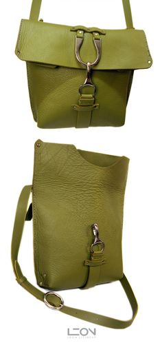 Green Leather Bag by Leon Litinsky Handmade Handbags & Accessories - http://amzn.to/2iLR27v