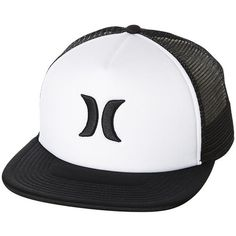 Hurley Blocked 2 Trucker Cap White ($12) ❤ liked on Polyvore featuring men's fashion, men's accessories, men's hats, accessories, mens caps, trucker caps, white, men's trucker hats, mens hats and mens flat hats
