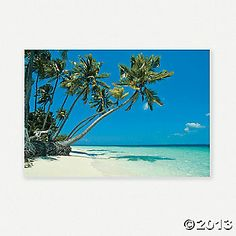 "Tropical Beach Backdrop Banner - Use it as a photo""booth"" background"