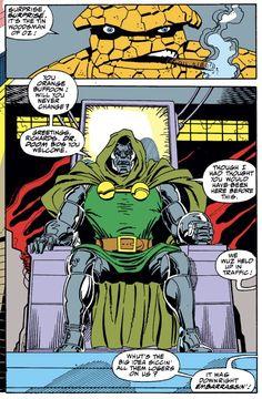 Doctor Doom in Comic Books Art, Comic Art, Marvel Comics Art, Good Doctor, Fantastic Four, Orange, Random, Casual, Cartoon Art