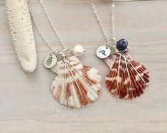 Seashell Necklace - Scallop Shell Necklace - Beach Charm Necklace - Beach Shell Necklace - Seashell Jewelry - Shell Charm Necklace -Hawaiian