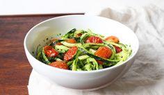 Zucchini Noodles with Kale Pesto Recipe on Yummly. @yummly #recipe