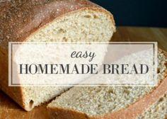 Easy-Homemade-Bread  100% whole wheat
