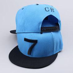 e02052e3b53 2017 new Cristiano Ronaldo black sky blue gray CR7 Baseball Caps hip hop  Sports Football hat