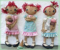 Primitive E-PATTERN Raggedy Dolls and Ice by SweetMeadowsFarm