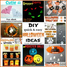 Wesens-Art: DIY quick & easy Halloween Ideas