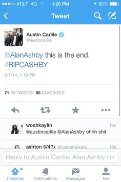 Austin Carlile. How dare you say that. Cashby is forever D: