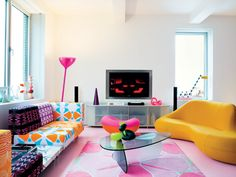 Karim Rashid creative interior spaces - this site has super cool stuff, and lots of color