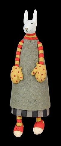 Sara Swink My Life in Clay - Mitts (wall piece)