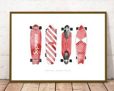 Check out our skateboard art selection for the very best in unique or custom, handmade pieces from our wall décor shops. Skateboard Room, Being In The World, Prints, Handmade, Etsy, Hand Made, Handarbeit