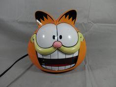 Vintage Garfield Alarm Clock LED Display Garfield Head Clock Sunbeam 877-99 from 1991 by WesternKyRustic on Etsy