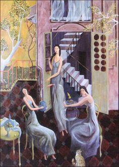 Iranian artist, Mehdi Ahmadi Untitled Oil on canvas