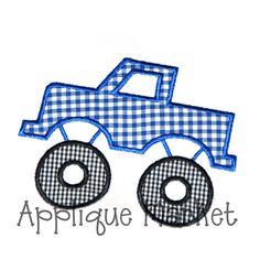 Machine Embroidery Design Applique Monster Truck. $3.00, via Etsy.