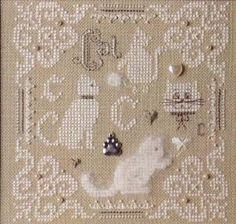 C is for Kitty Cat Teenie - Cross Stitch Kit