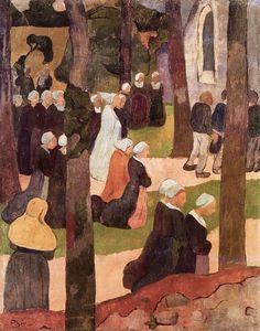 Un dimanche breton, 1890 A Breton Sunday, 1890  par  Paul Sérusier (1864-1927)  Collection privée