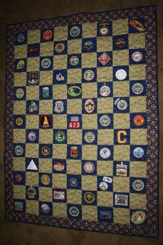 2012 - This is a Scout Quilt I made for Kurt for his Eagle Court of Honor.  I included all his patches from both Cub Scouts and Boy Scouts.  Eleven years of memories! by tknewman2010
