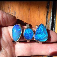 Captivating opal rings #Jamiejosephjewelry #bijoux #handmadeinseattle #putaringonit #austrailianopal #JJPowerRing