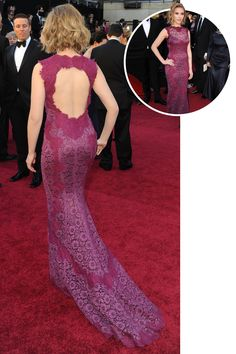 Scarlett Johansson In Dolce & Gabbana at the 2011 Academy Awards   - ELLE.com (=)