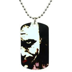 Batman Dark Knight Joker Pop Art Dog Tag Necklace ($18) ❤ liked on Polyvore featuring jewelry, necklaces, dog tag jewelry and dog tag necklace