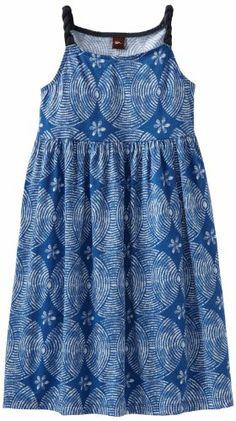 $ 32.00 Tea Collection Girls 7-16 Sand Circle Twist Strap Dress, Royal, 12
