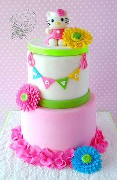 hello kitty rainbow cake inside