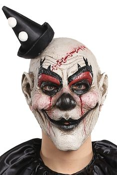 Professional horror props for Clown scare attractions and commercial horror venues! Buy Clown horror masks, accessories, props and decorations online now. Maske Halloween, Latex Halloween Masks, Halloween Costume Accessories, Funny Halloween Costumes, Halloween Makeup, Mime Costume, Scary Clown Makeup, Scary Clown Mask, Evil Clowns