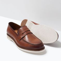 ZARA - MAN - LEATHER PENNY LOAFERS