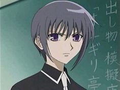 "This is Yuki Sohma...of course he is a mouse person,he turns to a mouse when he feels uncomfortable or depressed.why Yuki and Kyo don't like each other?because Yuki tricked the ""cat boy"" saying that there will be no festival.The cat took a nap and woke up alone,and the other animals happily went to the festival with out the cat. :'( When You Smile, Your Smile, Yuki Sohma, Manga Love, Fruits Basket, Take A Nap, Anime, Depressed, Otaku"