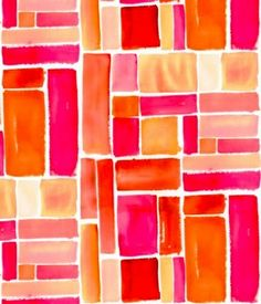 pink & orange like stained glass