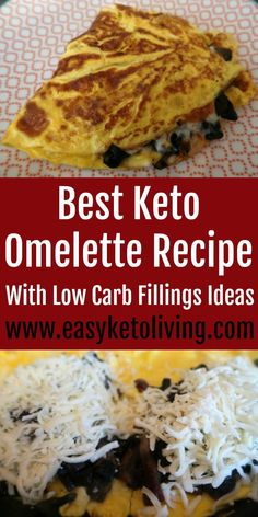 Keto Omelette Recipe – How to make a low carb egg omelet with ideas for the best fillings including cheese and mushrooms. With the video. Breakfast On A Budget, Quick Keto Breakfast, Breakfast For Kids, Healthy Breakfast Recipes, Breakfast Ideas, Omelette Recipe, Egg Omelet, Keto Lunch Ideas, Meal Ideas