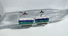 Hey, I found this really awesome Etsy listing at https://www.etsy.com/listing/583856998/blue-beaded-boho-beach-earrings-blue
