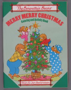 The Berenstain Bears' Merry Merry Christmas coloring book, 1980 ManufacturerGT Publishing Corporation Materialpaper | cardboard OriginUSA