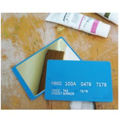 Blue Credit Card Mirror
