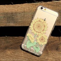 Clear Plastic Case Cover For Iphone 5 5s - Sunny Sunflower