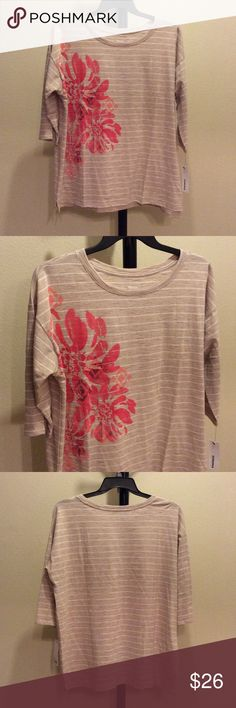 🌺SALE🌺 NWT cotton blend 3/4 sleeves top Boatneck. 3/4 sleeves.  xqtwonyu Sonoma Tops Blouses