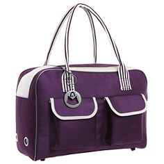 MG Collection Purple Cat  Dog Designer Inspired Soft Sided Nylon Pet Carrier Travel Tote Hand Bag *** You can find out more details at the link of the image.