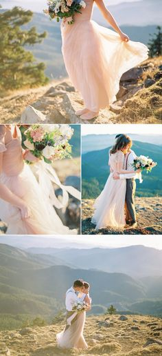 Pastel Mountain Elopement Inspiration - Style Me Pretty