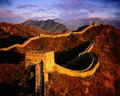 Great Wall...it's spectacular. I'd love to see this.
