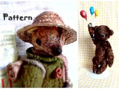 1 PATTERN for 2 artist bear teddy bear 10 inches Snuffkin Moomin Moomintrolls